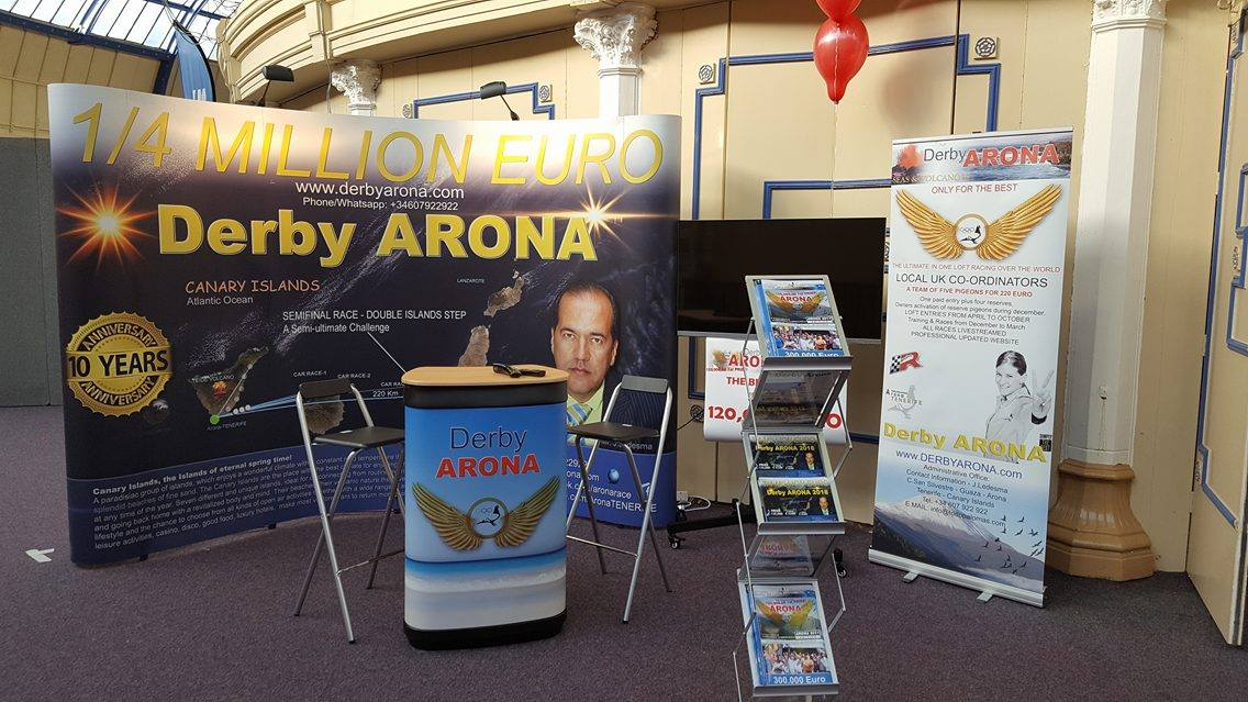 The Derby Arona stand at Blackpool which was a hive of activity over the show weekend.