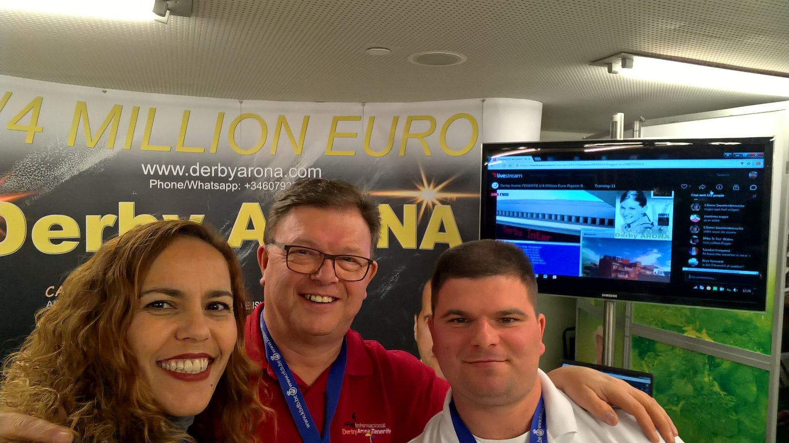 DERBY ARONA REPRESENTATIVES AT THE OLYMPIADE IN BRUSSELS