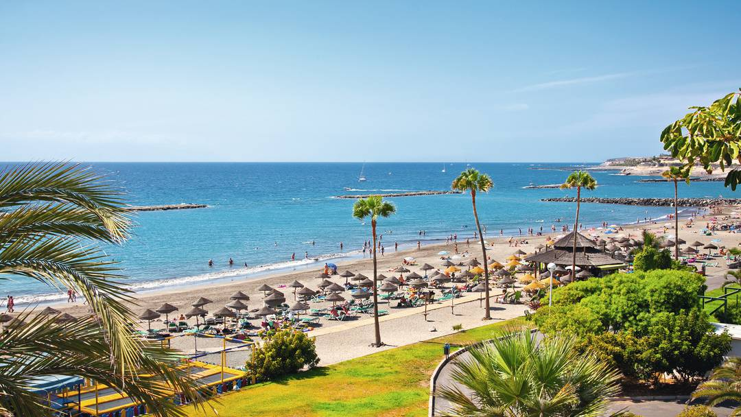 The holiday resort of Playa de Las Americas, Tenerife